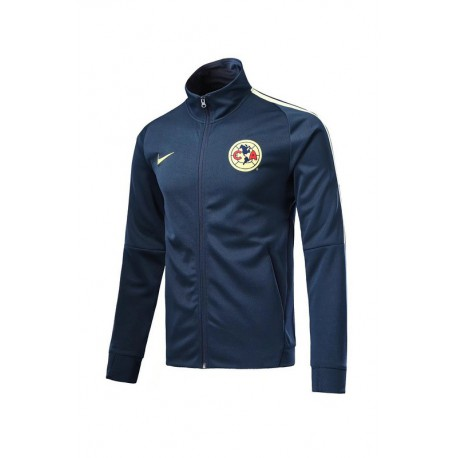 newest collection 7704a 52480 America Jersey 17 18,America Jersey 2018 19,Club America Blue high collar  red jacket tracksuit Size:17-18