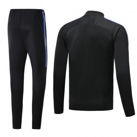 Inter Milan Black Jacket Tracksuit Low Colla