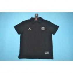 P-aris jordan black polo shir