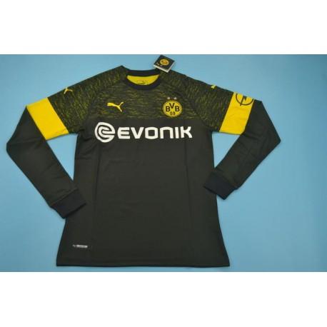 Jersey Dortmund 2019 Away Bvb Dortmund Soccer Jersey Size 18 19 Dortmund Away Black Long Sleeves Soccer Jersey