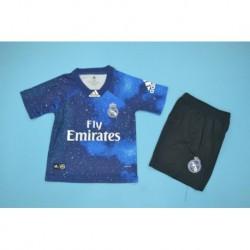 Size:18-19 Real Marid EA Sport Blue Kid Kit