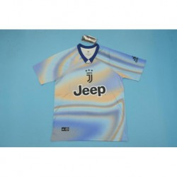 Size:18-19 Juventus EA Sports Jersey With Blue Colla