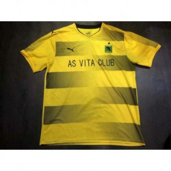 Size:18-19 As Vita Club Yellow Soccer Jerse