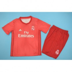 Real madrid 3rd red kid kits size:18-1
