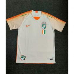 20 size:18-2019 lvory coast white orange training short jerse