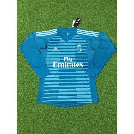 Blue goalkeeper long sleeve soccer jersey shirt 20 size:18-201