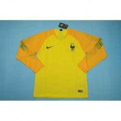 France yellow long sleeves gk shir