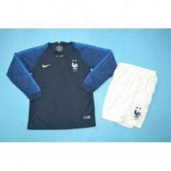 French home blue long-sleeved kids size:18-1