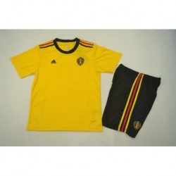 Belgium away yellow kids kit 201