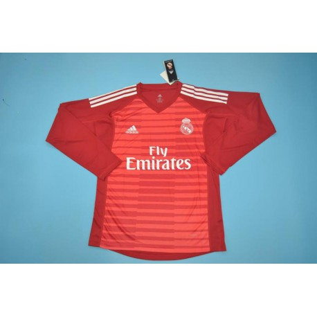 watch f2863 68ecf Real Madrid Red Kit,Real Madrid Kit Red,real-madrid red long sleeves GK  jerseys Size:18-19