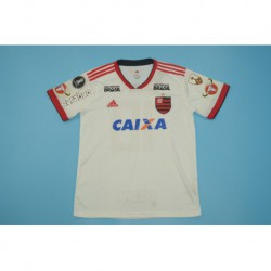 Flamengo size:18-19 white away with all sponser