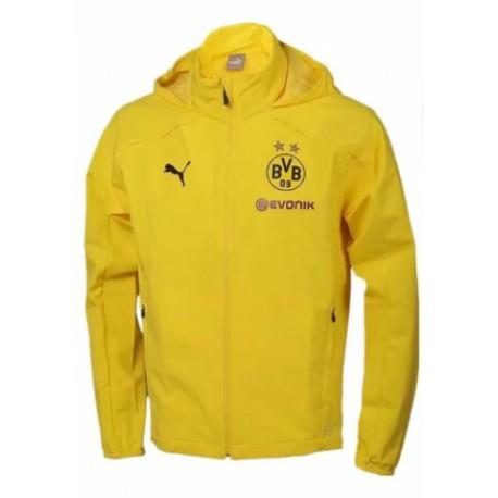 Dortmund Fc Football Shirt Borussia Dortmund Jacket Usa Dortmund Yellow Windbreaker Jacket Size 18 19