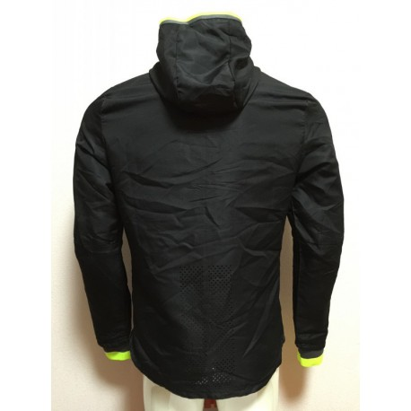 Size:16-17 chelsea black waterproof windbreaker hooded jacke