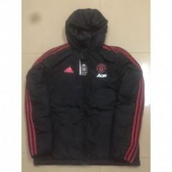 Manchester united black cotton-padded jacke