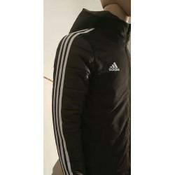 Real madrid black cotton-padded jacke