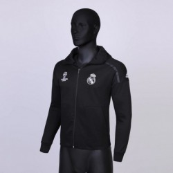 Size:18-19 Hooded Jacket Real Madrid Ucl Zne Black Normal Quality Versio