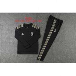 Juventus round neck black kid training sui