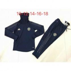 Manutd black kid ucl high collar training suit 20 size:18-201