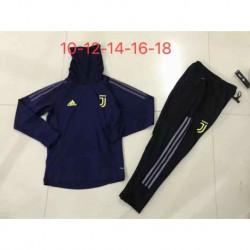Juventus blue kid ucl high collar training suit 20 size:18-201