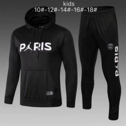 Youth p-aris jordan black hoodie suit 20 size:18-201
