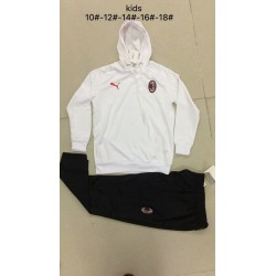 Youth ac milan white hoodie suit 20 size:18-201