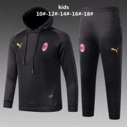 Youth ac milan black hoodie suit 20 size:18-201