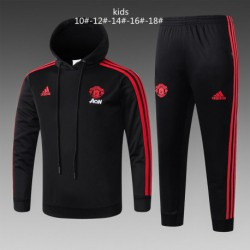 Self-Defense-Training-Suit-Dragon-Ball-Training-Suit-manutd-black-kid-hooded-training-suit
