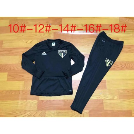 Youth sao paulo black training suit 20 size:18-201