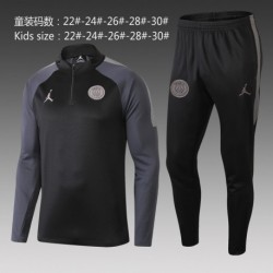 Pa-ris jordan gray sleeves black kid jacket tracksuit 20 size:18-201