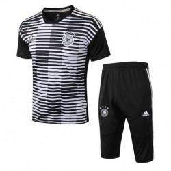 Germany black stripe ss training suit 201