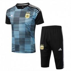 Argentina blue stripe ss training suit 201