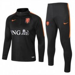 Netherlands black training suit 20 size:18-201