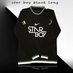 Nigeria black long sleeves traing shir