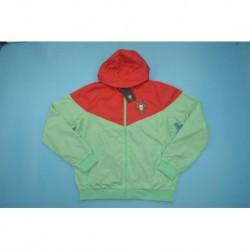Potugual green red windbreaker jacke