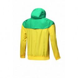 Brazil yellow windbreaker jacket 201