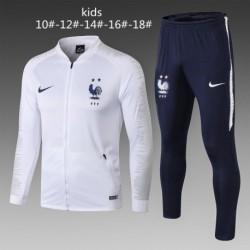 2 star size:18-19 france white jacket tracksui
