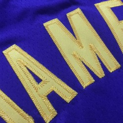 Laker james top quality purple shir