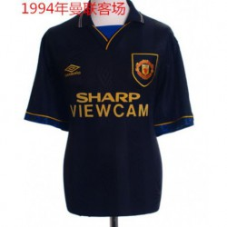1994 man united away black retro jerse