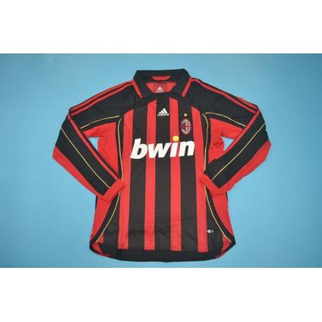 Inter Milan Home Jersey Ac Milan Soccer Roster Size 06 07 Ac Milan Home Long Sleeves