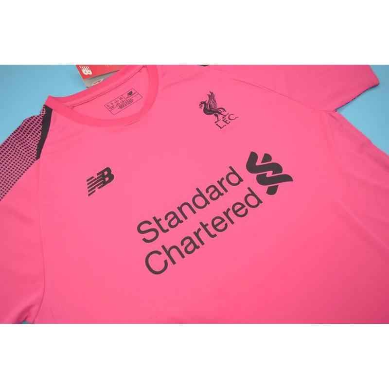Pink Liverpool Goalkeeper Kit Liverpool Replica Kit Sale Liverpool Pink Goalkeeper Jersey Size 18 19