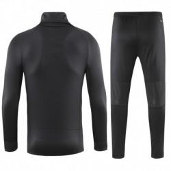 Size:18-19 ucl juventus high collar black sweater training sui