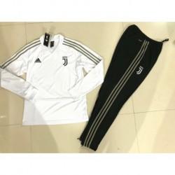 Size:18-19 Juventus White V-Neck training sui