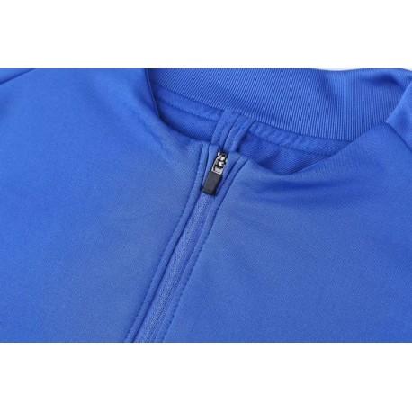 Inter Milan Custom Jersey Inter Milan Icardi Jersey Semi Zipper Sweater Tracksuit Inter Milan Blue 2017