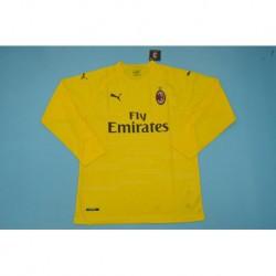 Ac milan long sleeves yellow gk shirt size:18-1