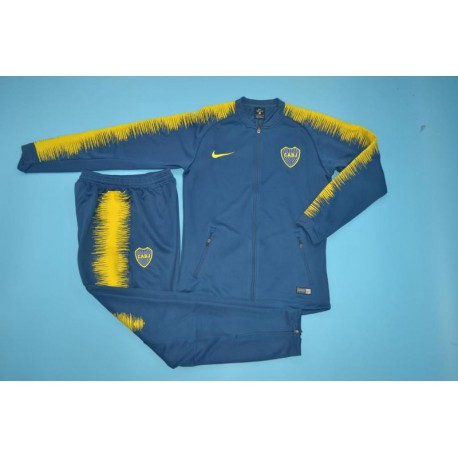 Boca Juniors Tracksuit Top,La Boca Lucifer Jacket,boca blue jacket tracksuit Size:18 19